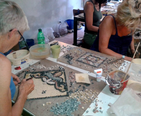 corso di mosaico di gruppo | afmosaici.com
