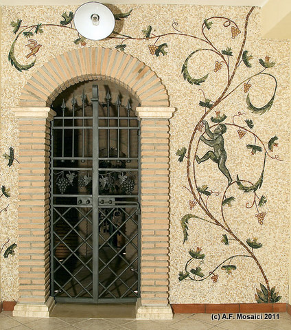 Riproduzione del mosaico di Santa Costanza | afmosaici.com