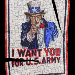 "poster""I want you"" in mosaico 