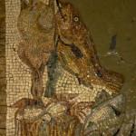 lavorazione di un mosaico Emblema con tencica indiretta su creta