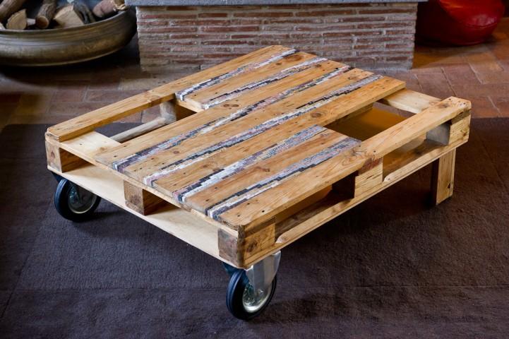 tavolo/bancale da salotto con inserti in mosaico | afmosaici.com