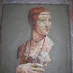 mosaico in lavorazione su creta