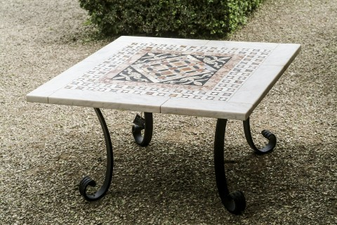 pian tavolo cosmatesco, copia di un particolre del pavimento di S. Marco a venezia \ afmosaici.com