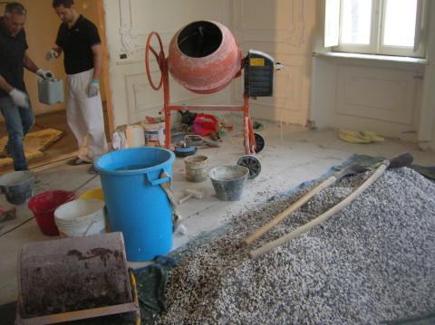 graniglie pronte per essere impastate nella betoniera