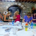 durante il corso di mosaico | afmosaici.com