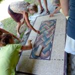 durante la posa in opera del pavimento | afmosaici.com