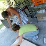rivoltatura pezzi di mosaico | afmosaici.com