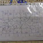 piantina dove si riporta la numerazione del mosaico | afmosaici.com