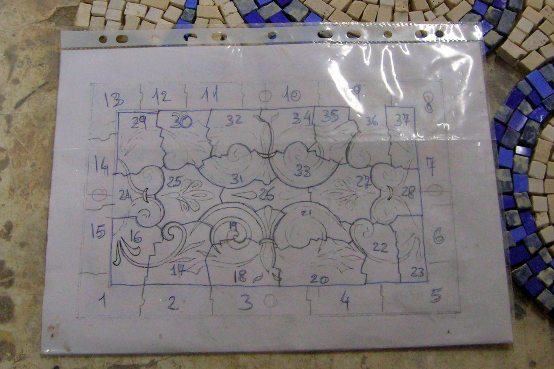Come Costruire Un Mosaico fasi di lavorazione per realizzare un pavimento in mosaico