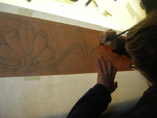 preparazione disegno per mosaico | afmosaici.com