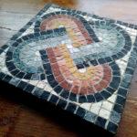 primo mosaico realizzato durante il corso di due giorni
