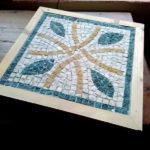 secondo mosaico iniziato durante il corso di due giorni ma terminato a casa