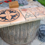 cotto artigianale intarsiato con il mosaico | afmosaici.com