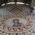 pavimento in mosaico lapideo con Dioniso al centro | afmosaico.com